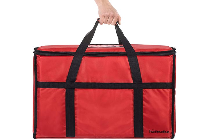 Homevative XL Nylon Thermal Insulated Food Delivery and Reusable Grocery Bag
