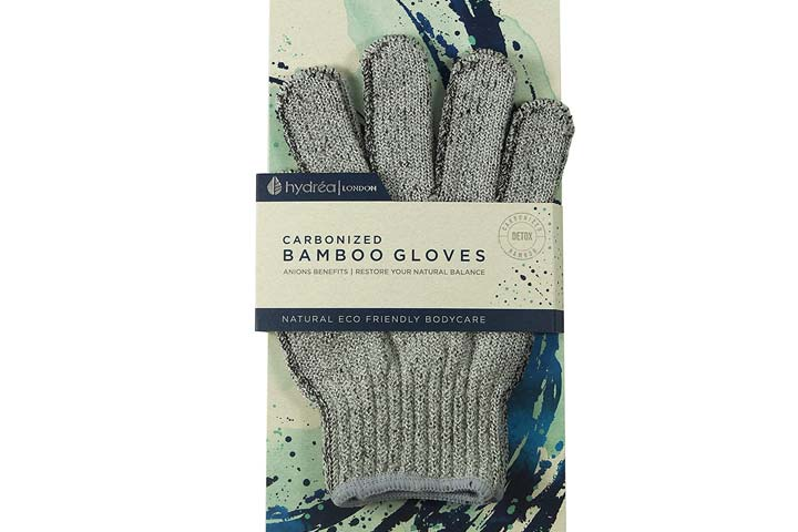 Hydrea London Carbonized Bamboo Exfoliating Gloves