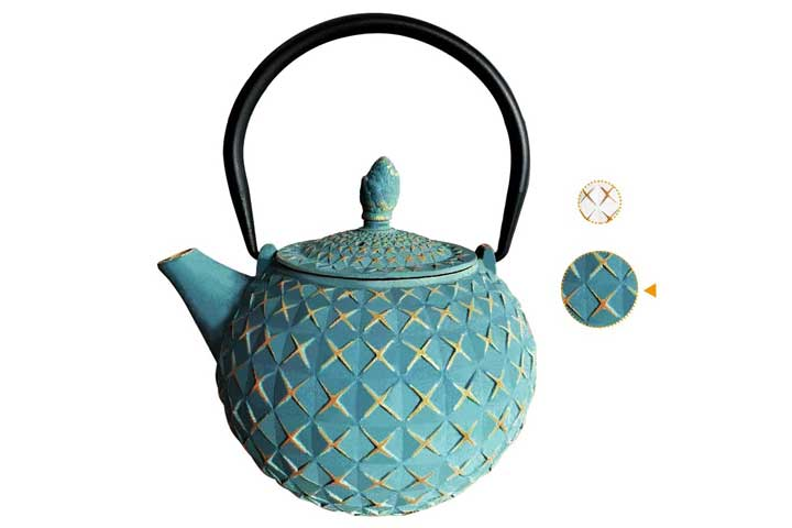 Iaxsee Cast Iron Teapot
