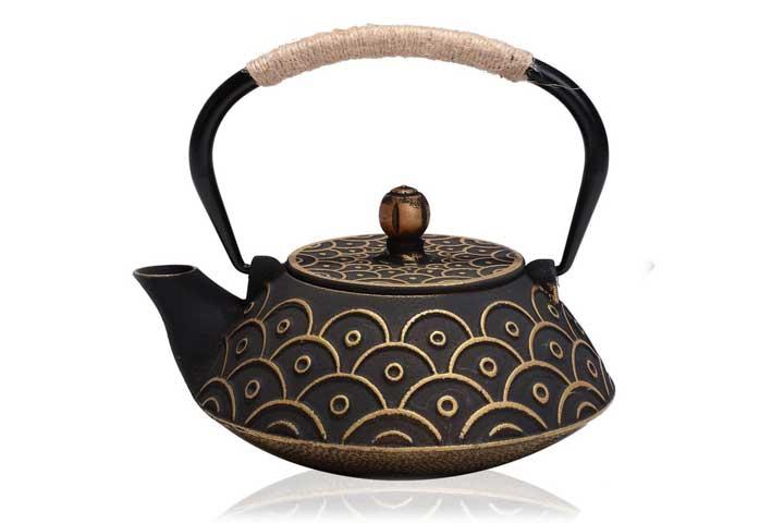 Jueqi Enamel Craft Cast Iron Teapot