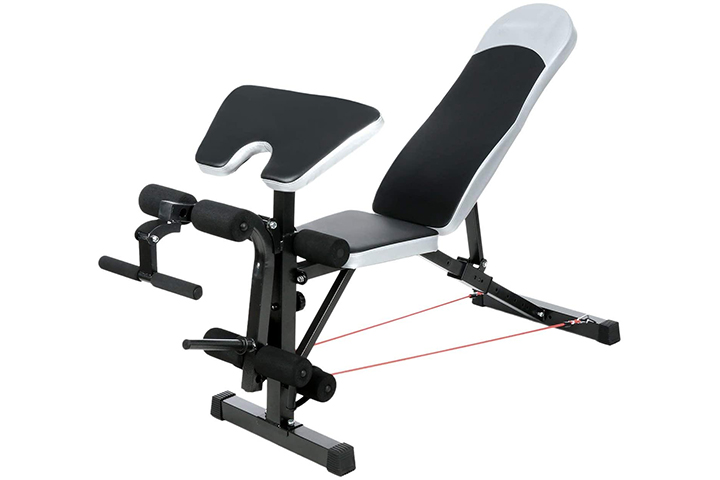 Kepteen 330lbs Adjustable Olympic Weight Bench