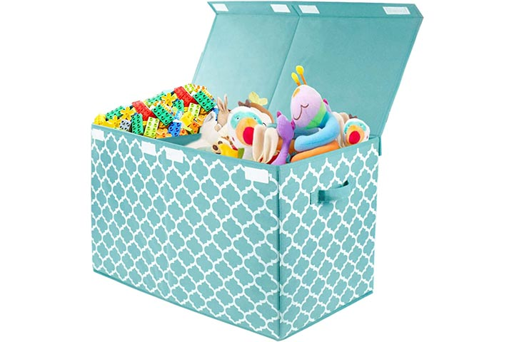 Kids Large Toy Chest with Flip-Top Lid
