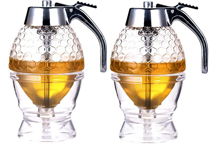 Kingrol 2 Pack Plastic Honey Dispenser