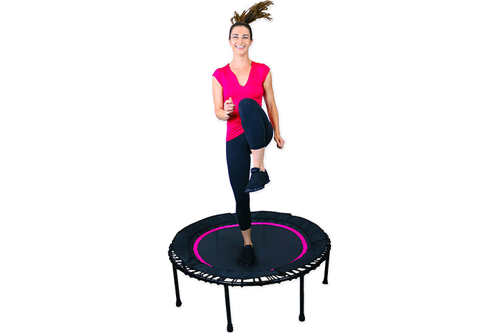 Leaps and Rebounds Fitness Trampoline - Pink