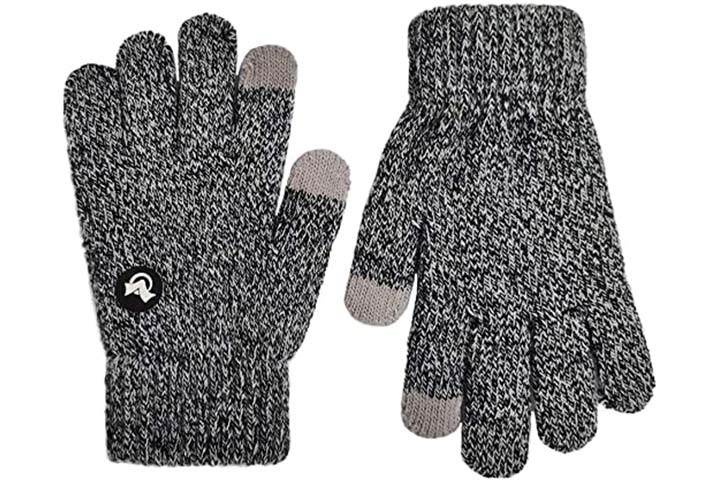 Lethmik Mix Knit Touchscreen Gloves