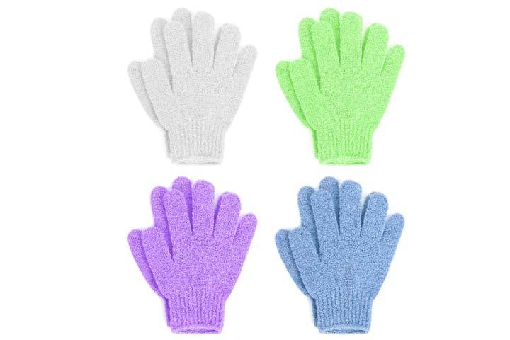 Linda Exfoliating Bath Gloves-1