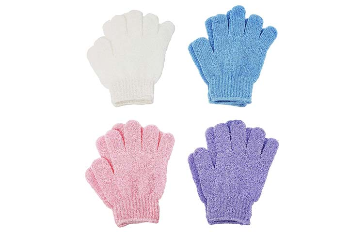 Linda Exfoliating Bath Gloves