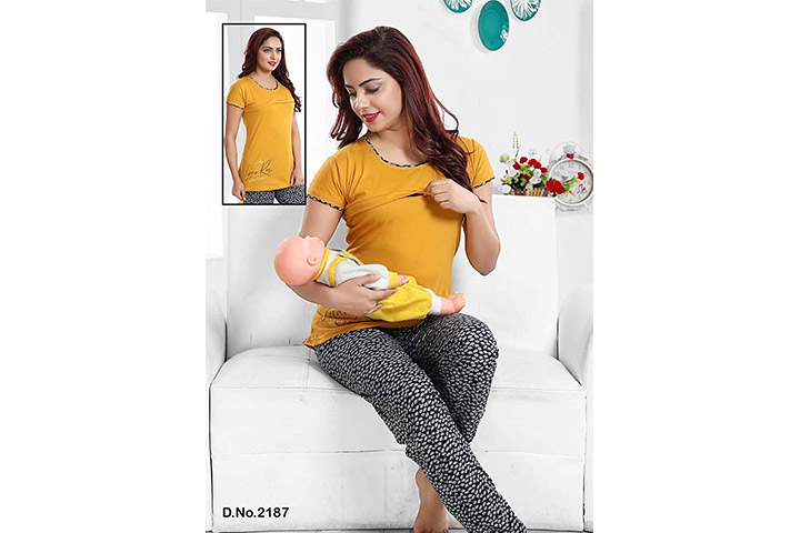 Mahi Fashion Feeding Nursing Maternity Top