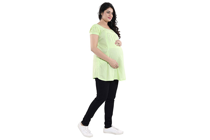 Mammaz Maternity® Solid Rayon Maternity Nursing Top