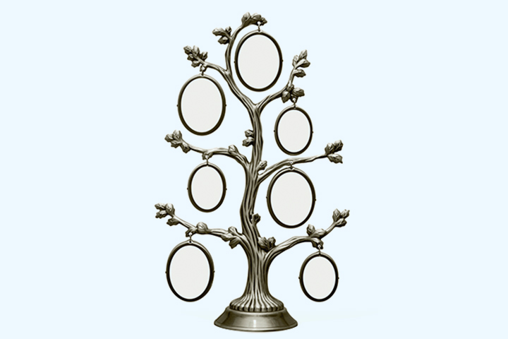 Metal frame family tree