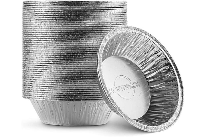 MontoPack Disposable 5 Aluminum Foil PieTart Pans