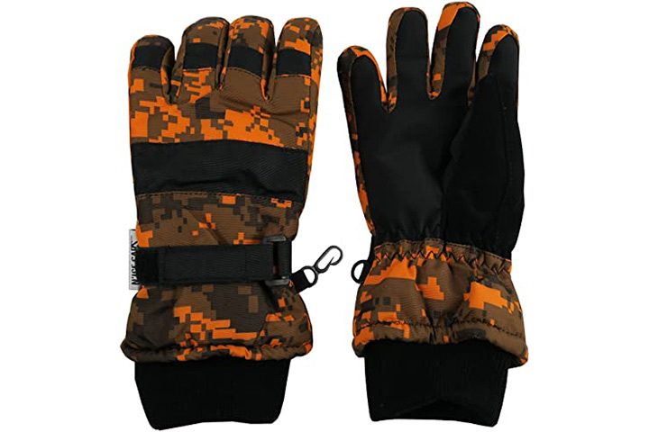 N'Ice Caps Kids Thinsulate Camo Print Winter Gloves