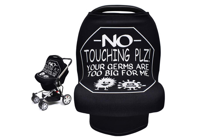 No Touch Sign Baby Car Seat Covers by Metplus