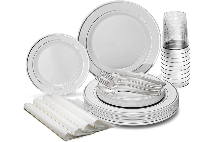 Occasions Finest Wedding Party Plastic Plate Set