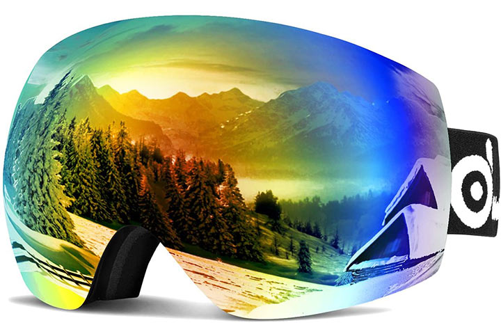 Odoland Large Spherical Frameless Ski Goggles