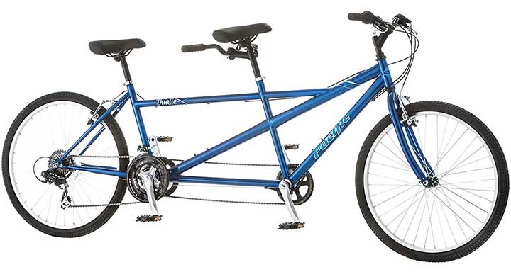 Pacific Dualie Tandem Bike, 26-Inch Wheels