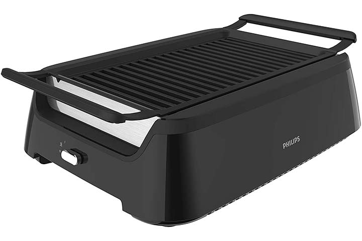 Philips Kitchen Appliances Smoke-less Indoor BBQ Grill- Avance Collection