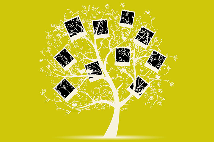 Photo art family tree
