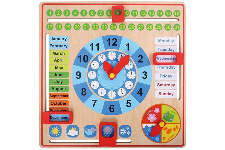 Pidoko Kids All About Today Calendar Board