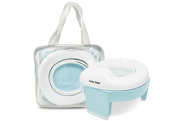 Portable Potty and Training Seat (Sky Blue) by GuGu Tots