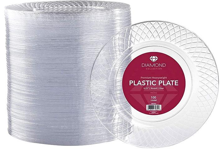 Prestee Clear Plastic Plates