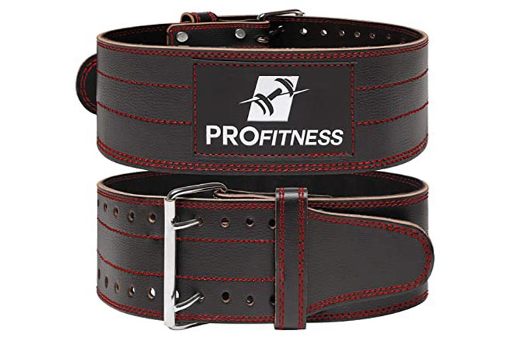 ProFitness Genuine Leather Weight Lifting Belt