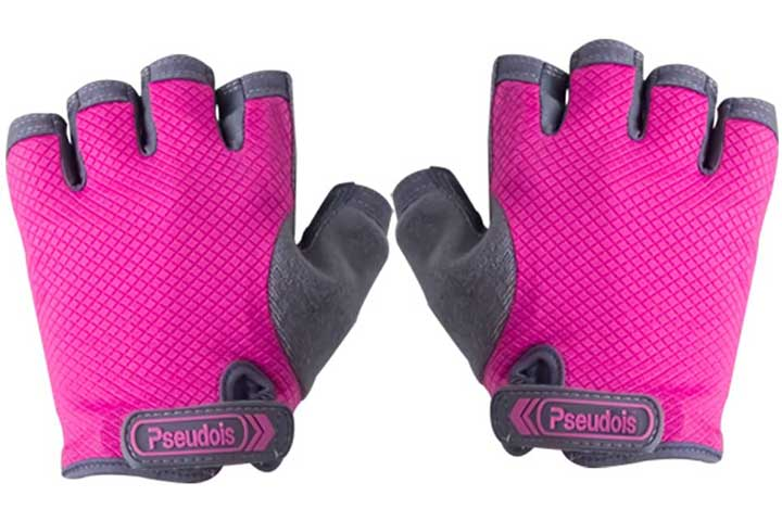 Pseudo is Padded Anti-Slip Women's Power Weight Lifting Gloves