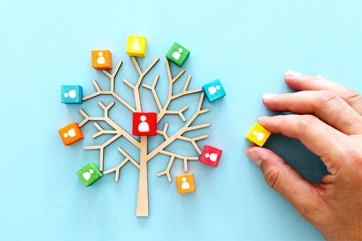 Puzzle family tree