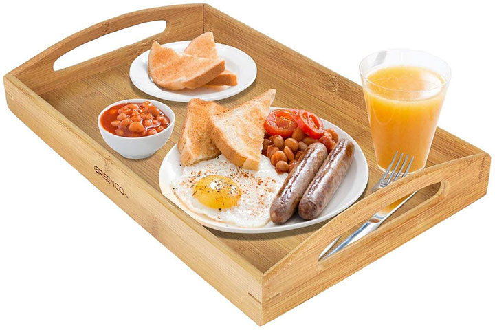 Rectangle Bamboo Serving Tray by Greenco