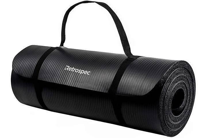 Retrospec Solana Yoga Mat - Black