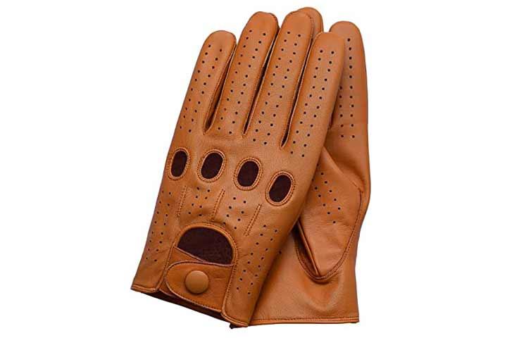 Riparo Genuine Leather Driving Gloves