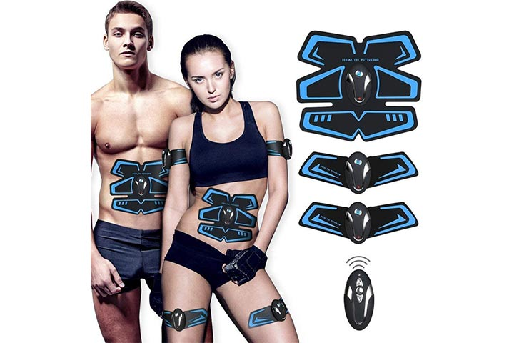 SHENGMI Muscle Toner, Abdominal Toning Belt Abs Trainer Body Fitness Belt