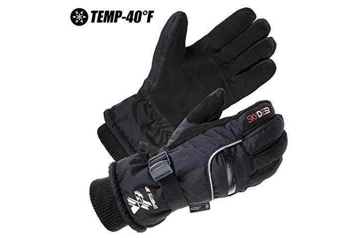 SKYDEER Leather Gloves for Snowboarding