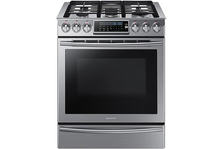 Samsung NX58H9500WS Slide-In Stainless Steel Gas Range with 5 Sealed Burners