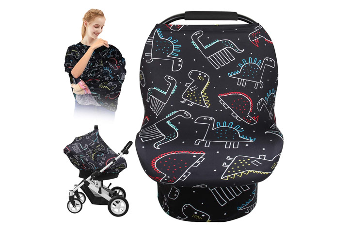 Stretchy Baby Car Seat Cover by Elstey