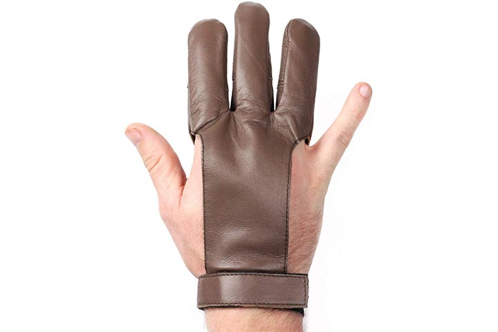 Striker Bows Brown Three Finger Archery Glove