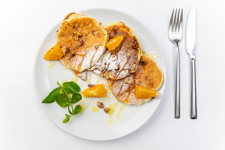 Sweet potato and banana pancake