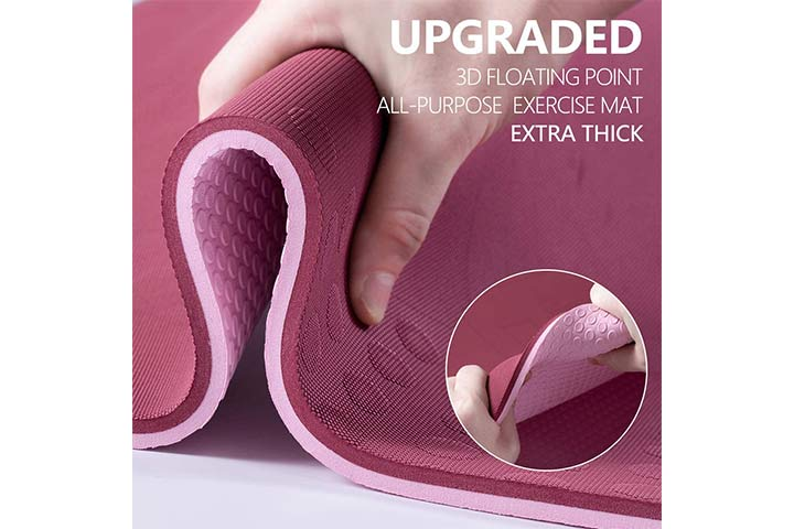 TENOL's JELS Yoga Mat - WinePink