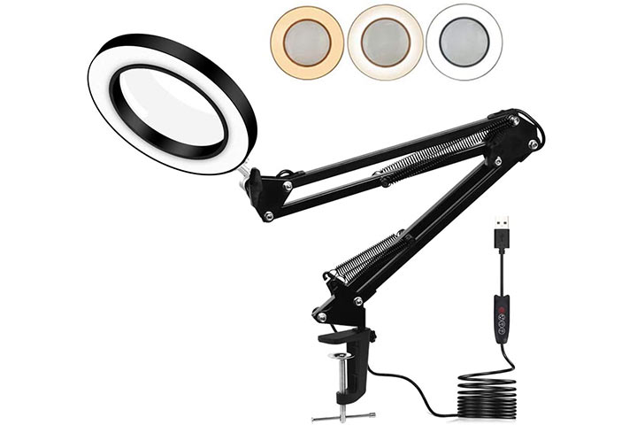 Toolour LED Magnifying Lamp
