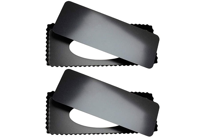 Tosnail 2 Pack Rectangular Quiche And Tart Pan with Removable Bottom