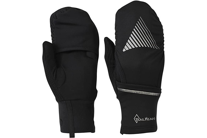 TrailHeads Mitten Shell - Convertible Running Gloves