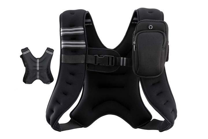 Weighted Vest with Reflective Stripe by Zelus