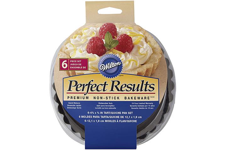 Wilton Perfect Results Premium Non-Stick Bakeware Round Tart and Quiche Pans