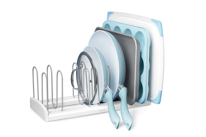 YouCopia Store Adjustable Pan and Lid Rack