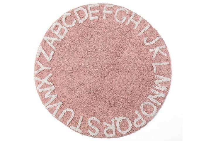 blue page Round ABC Rug