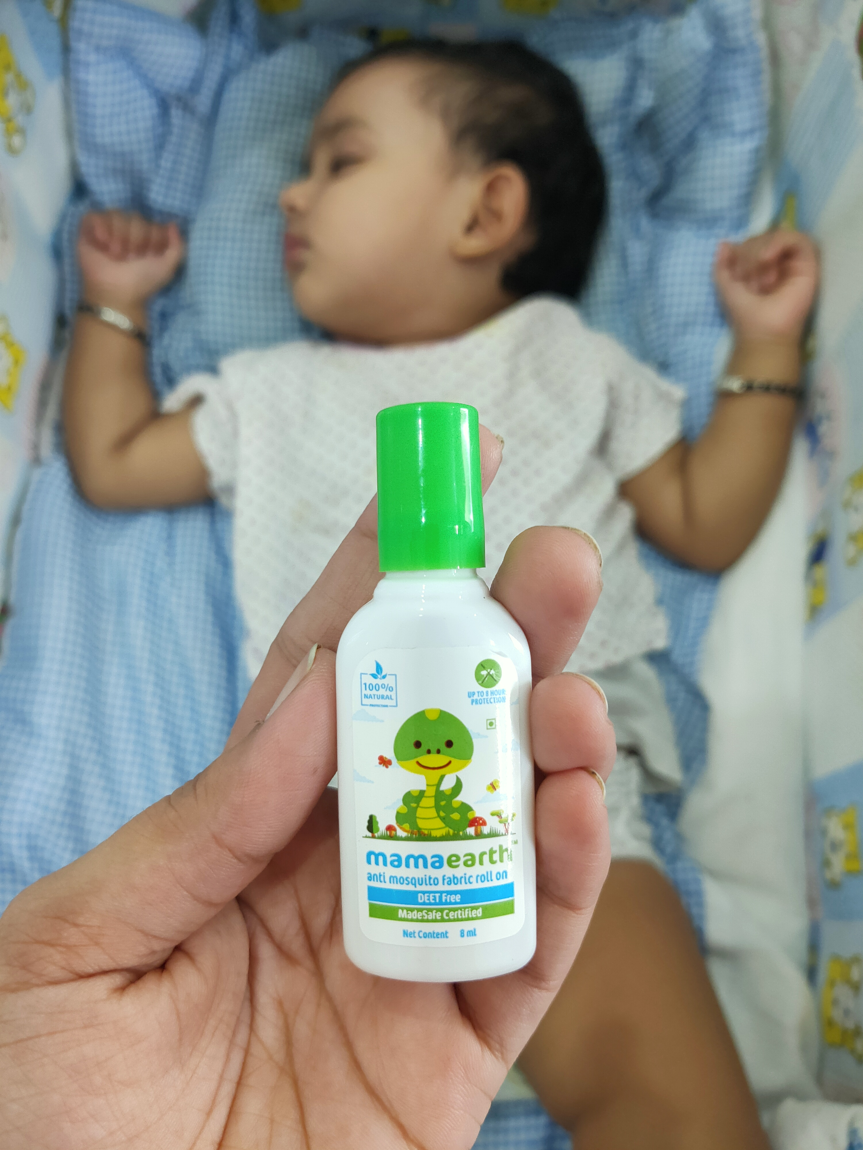 Mamaearth Anti Mosquito Fabric Roll On-Effective-By madaanritu