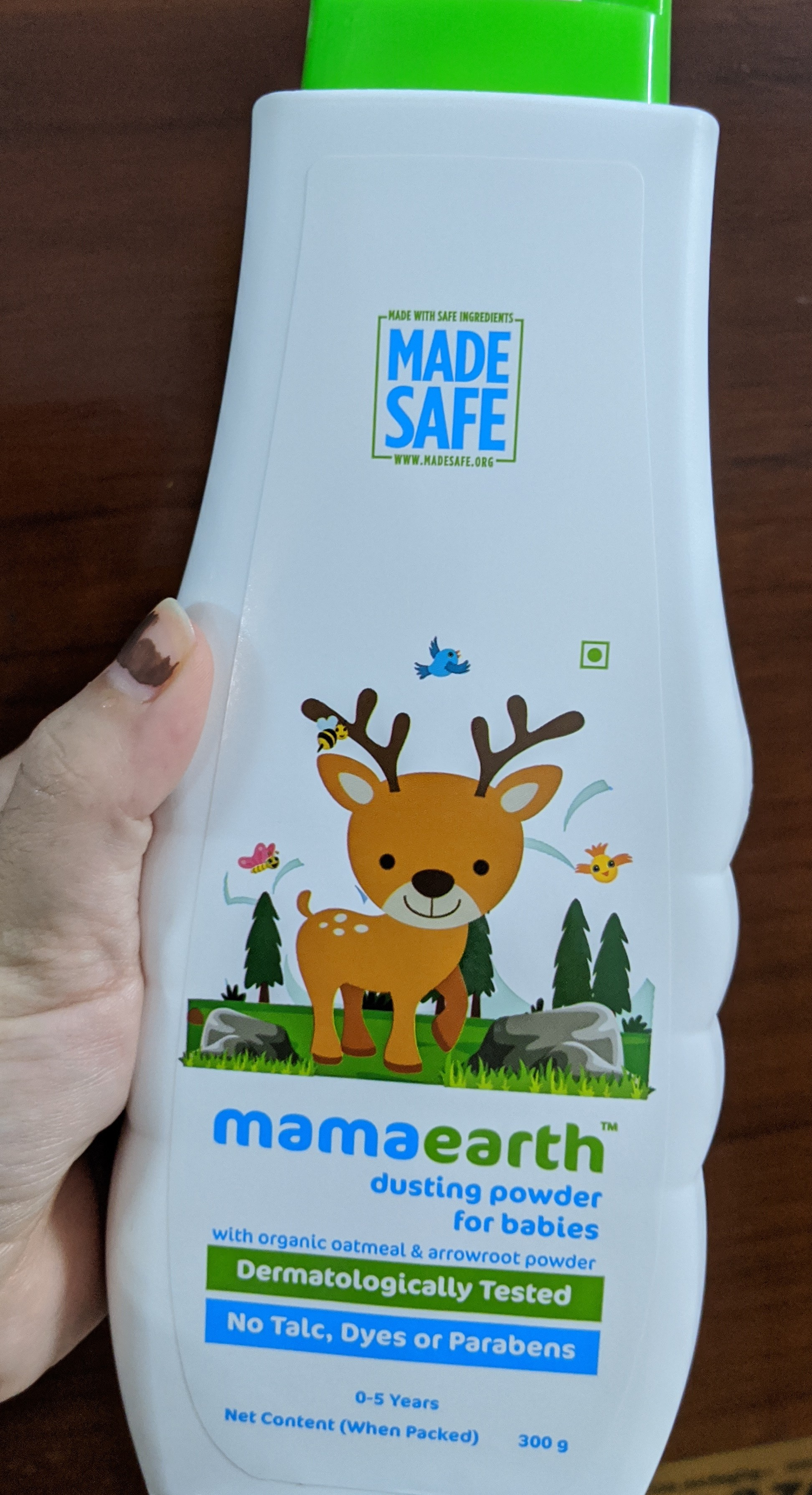 Mamaearth Talc Free Organic Dusting Powder for Babies, Arrowroot and Oat Starch-Best for summers and monsoons!-By akshi_pandita