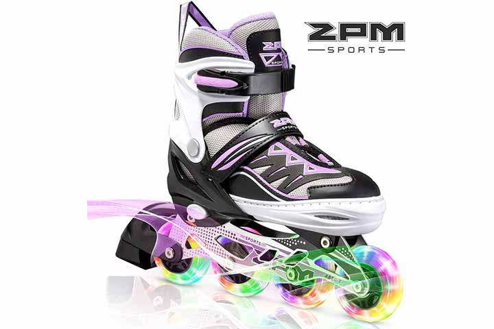 2PM Sports Adjustable Illuminating Inline Skates