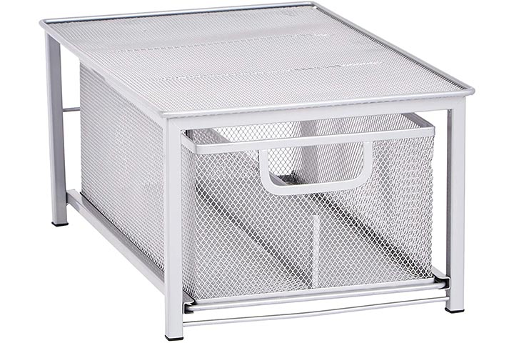 Amazon Basics Mesh Sliding Basket Drawer Storage