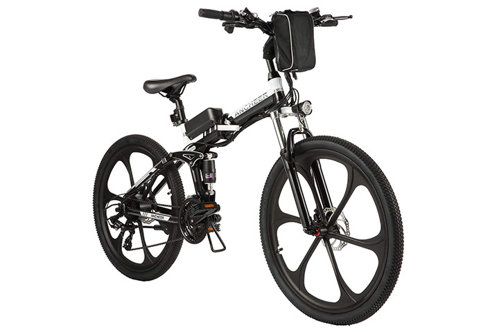 Ancheer Electric Bike Folding Electric Mountain Bike